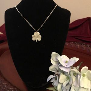 Jewelry - Connemara Marble Shamrock Necklace Sterling